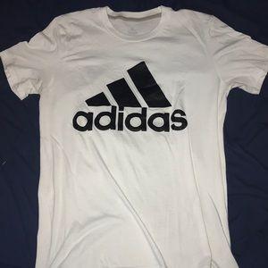 White Adidas T-Shirt